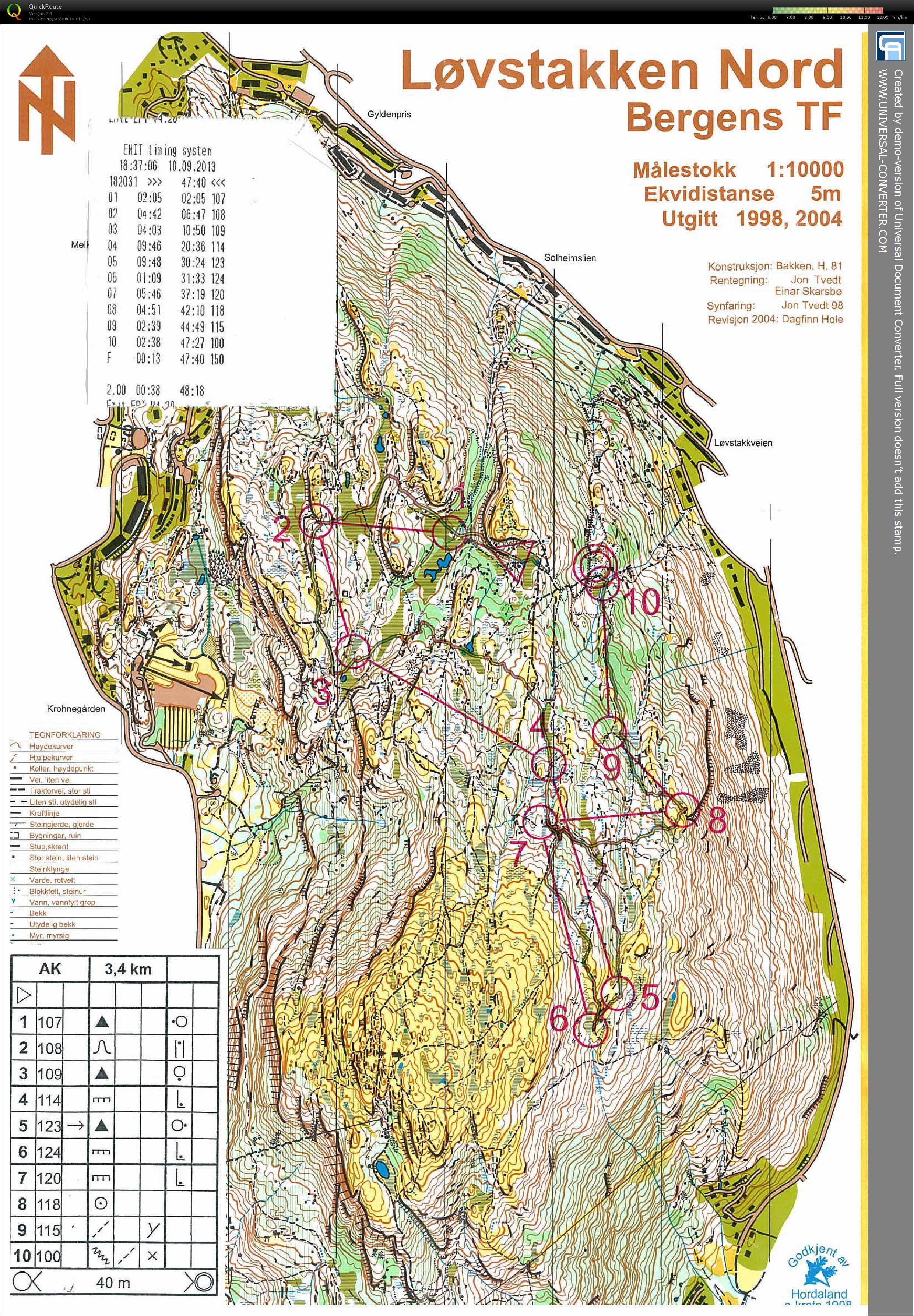 løvstakken kart My digital orienteering map archive :: Pokalkamp, Løvstakken Nord  løvstakken kart