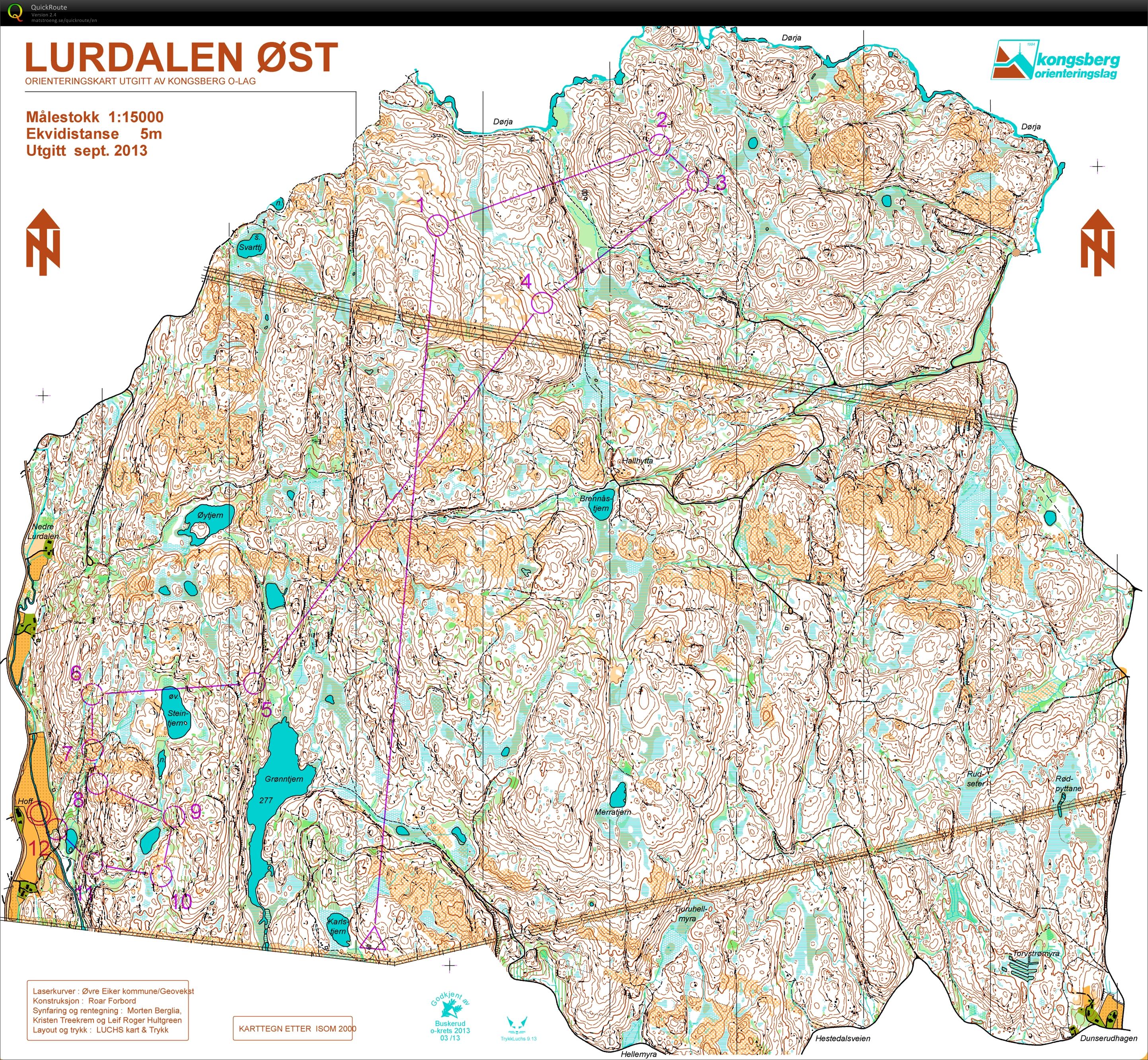 alvøskogen kart NM Langdistanse   September 12th 2013   Orienteering Map from  alvøskogen kart