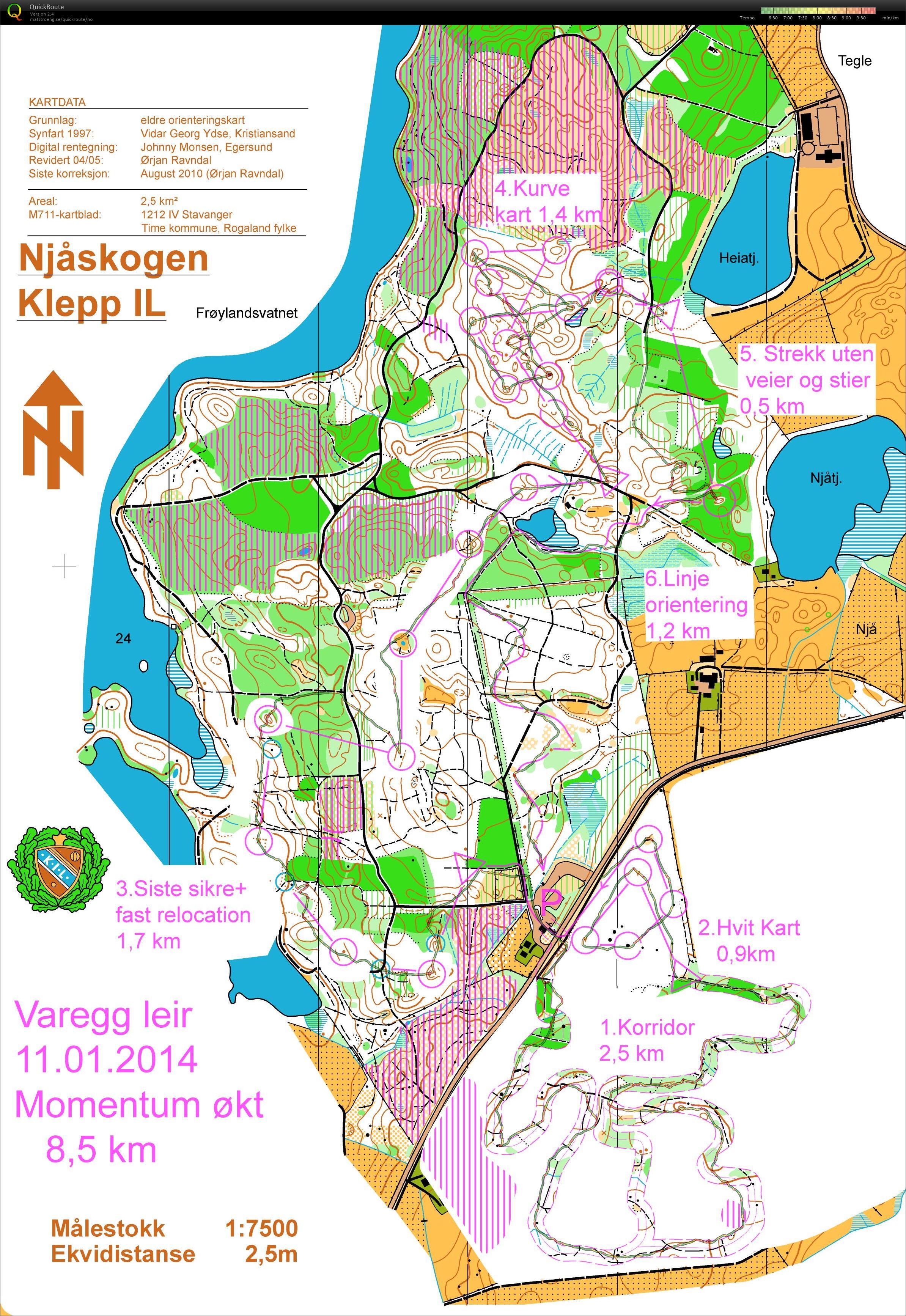 njåskogen kart My digital orienteering map archive :: Momentrening Njåskogen (11  njåskogen kart