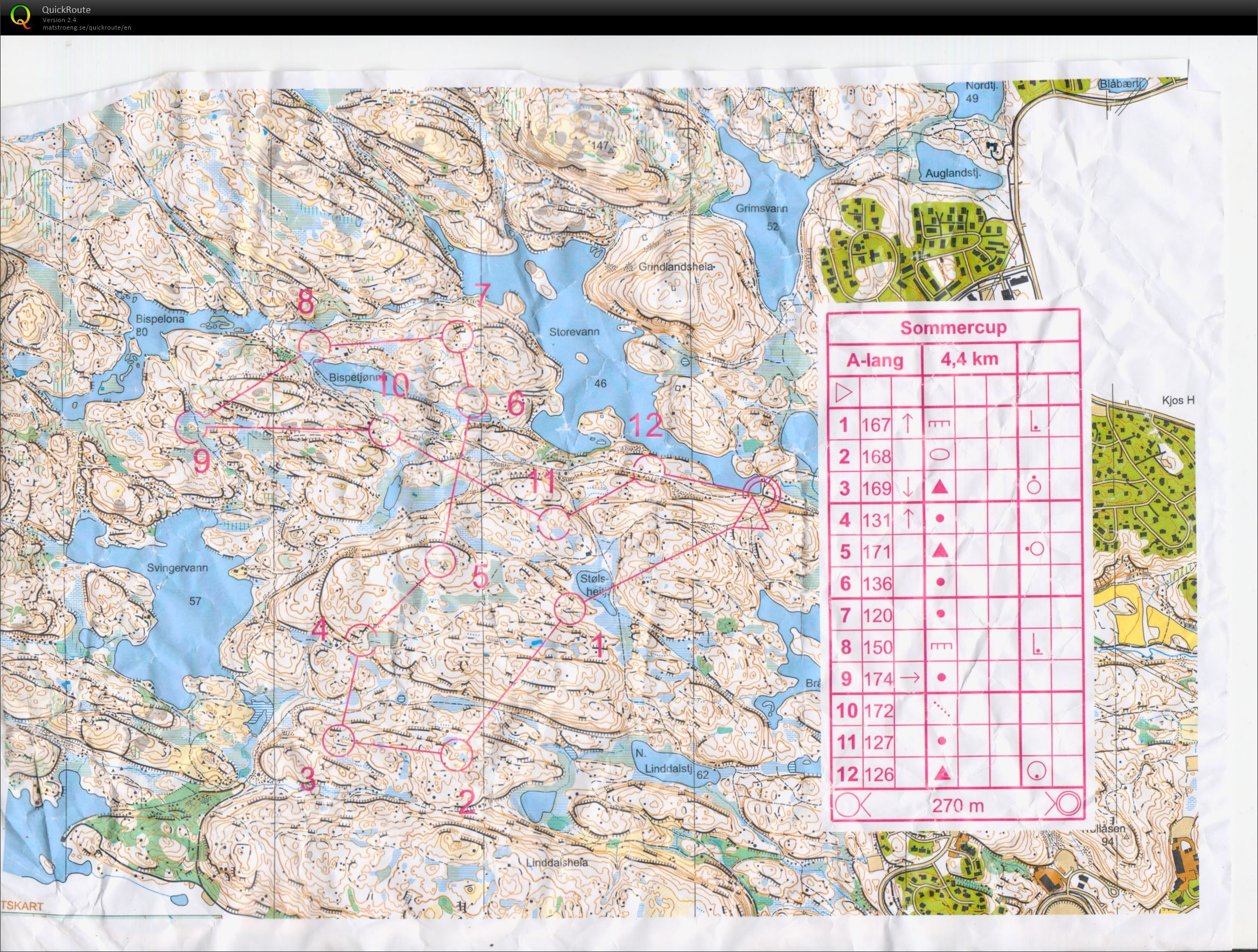 kart vågsbygd Sommercup #2, Vågsbygd   July 8th 2014   Orienteering Map from  kart vågsbygd