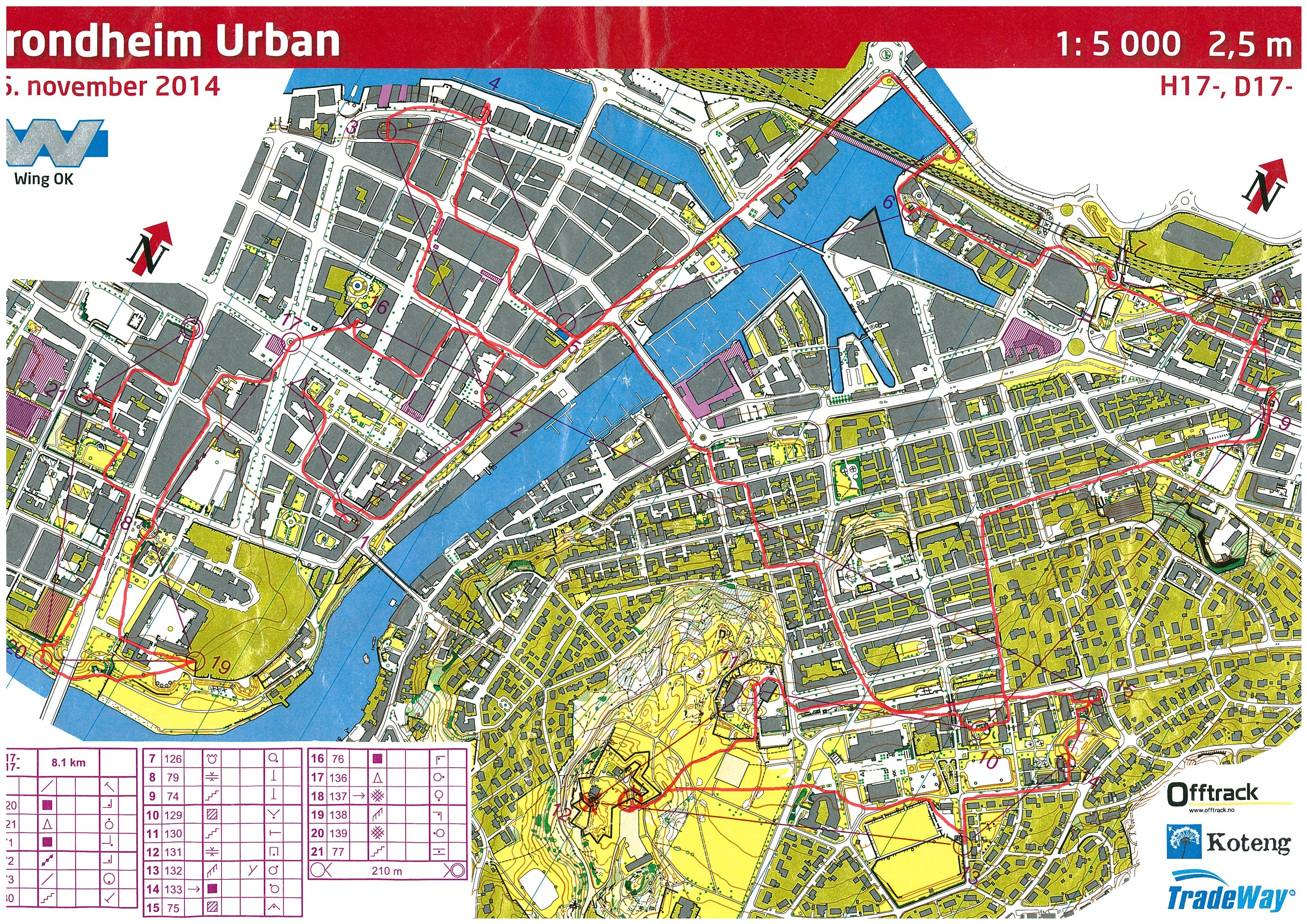kart over trondheim sentrum Kristines kartarkiv :: Trondheim Urban (16.11.2014) kart over trondheim sentrum