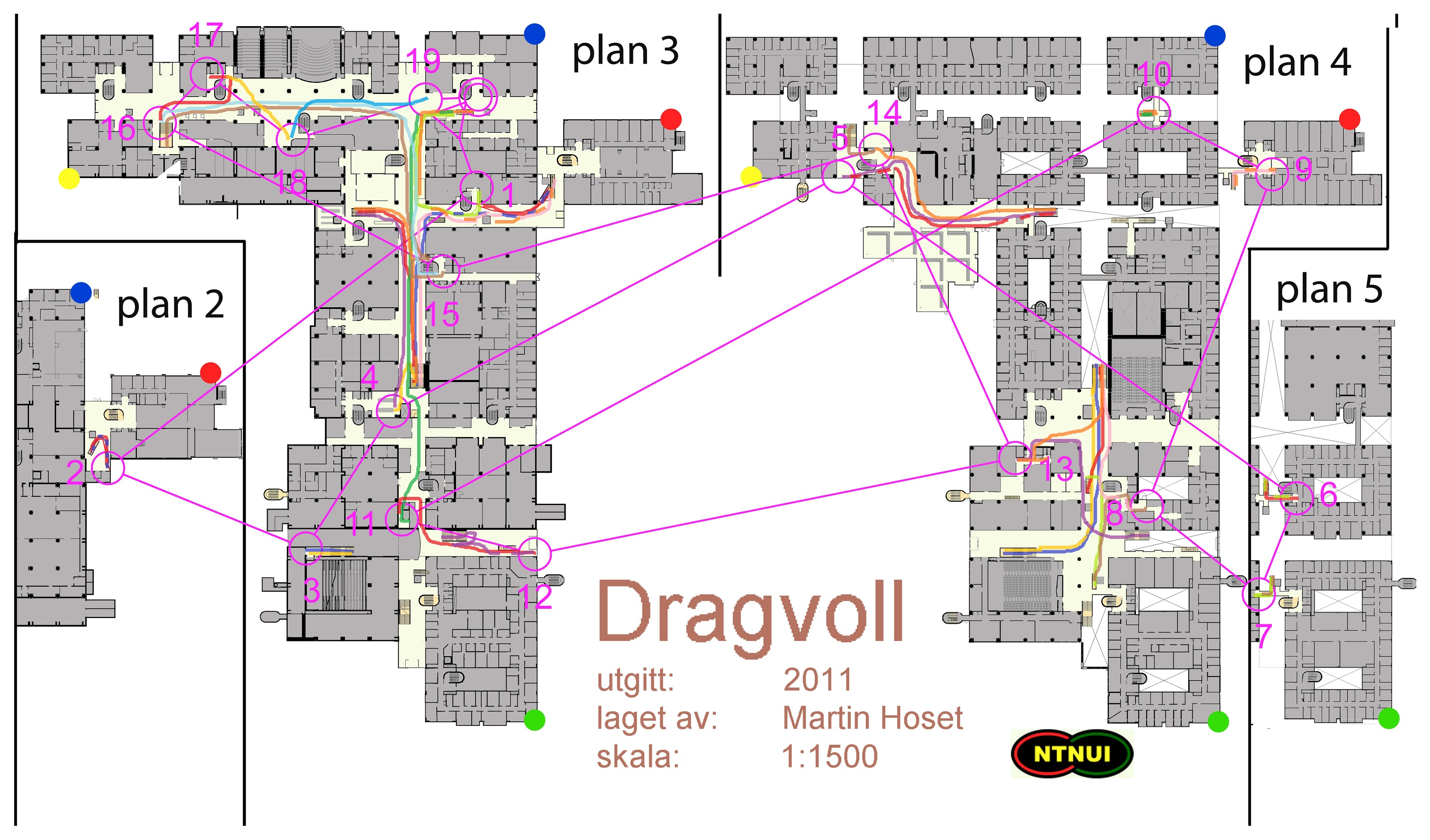 dragvoll kart Kristines kartarkiv :: SL Innendørsorientering (2015 02 20) dragvoll kart