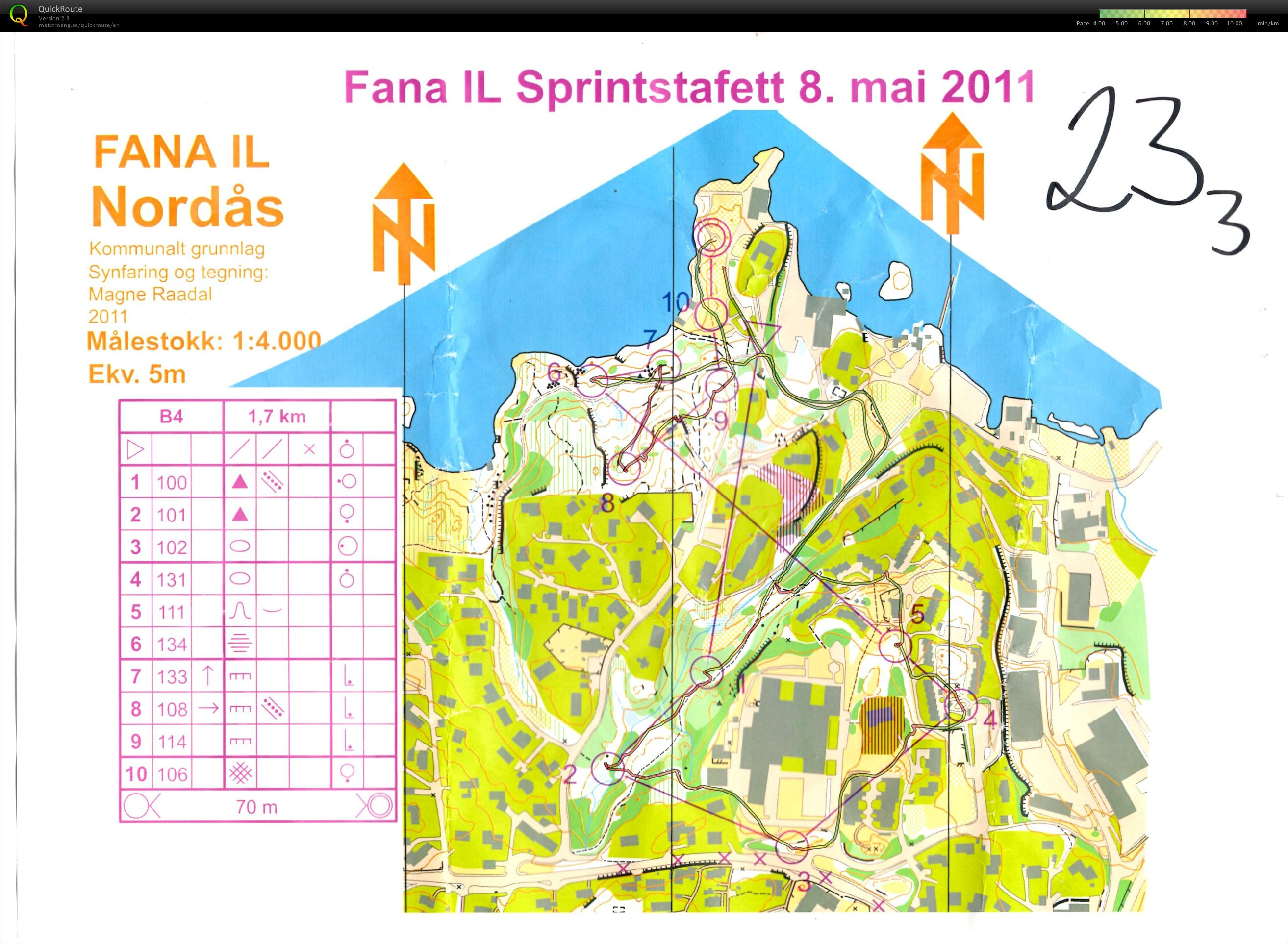 Sprint-stafett. 3. etappe (08/05/2011)