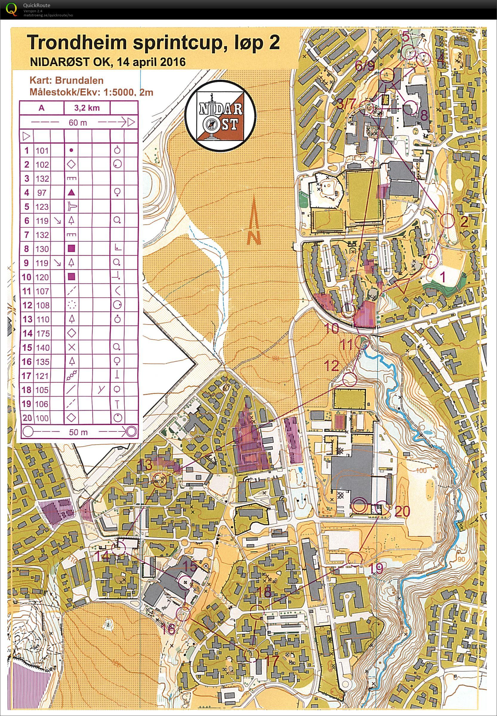 alvøskogen kart Trondheim Sprintcup 2   April 14th 2016   Orienteering Map from  alvøskogen kart